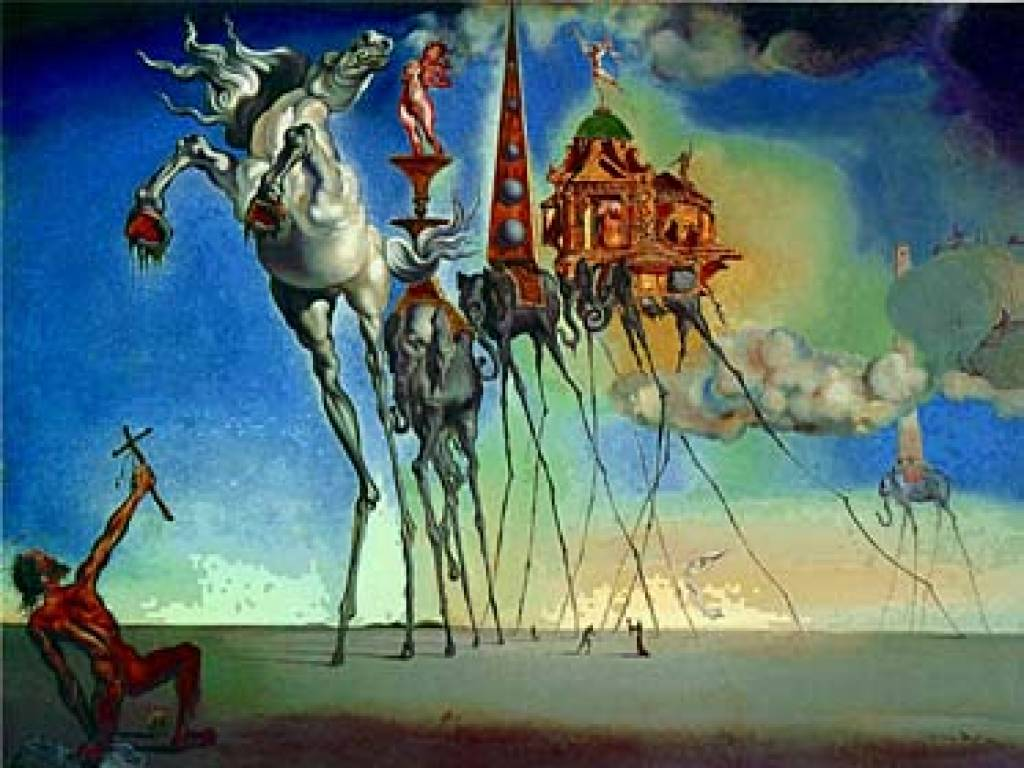 Salvador dali elephant from the temptation of saint anthony 1946