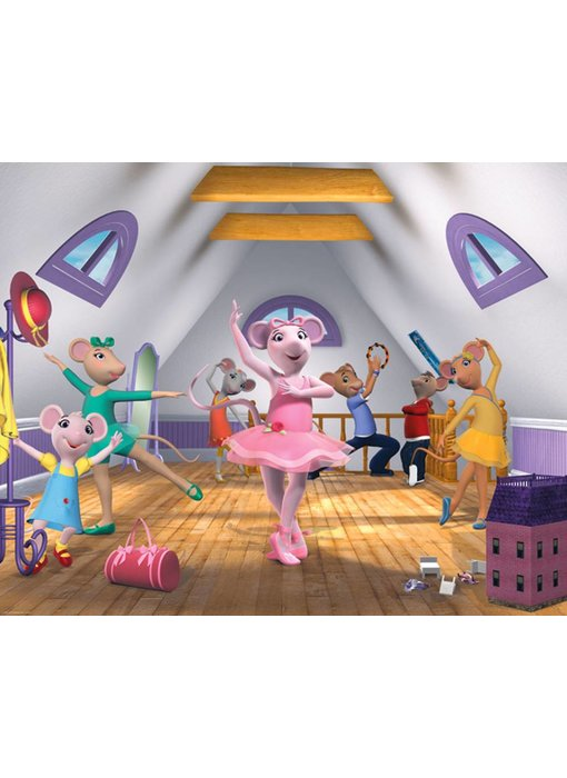Walltastic Angelina Ballerina XXL  Wandtapete für Mädchen- Letztes Exemplar