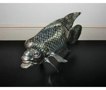 SEA LIFE - MGM Tropischer Fisch Lou Han - Bronze aus Gelbguss - versilbert