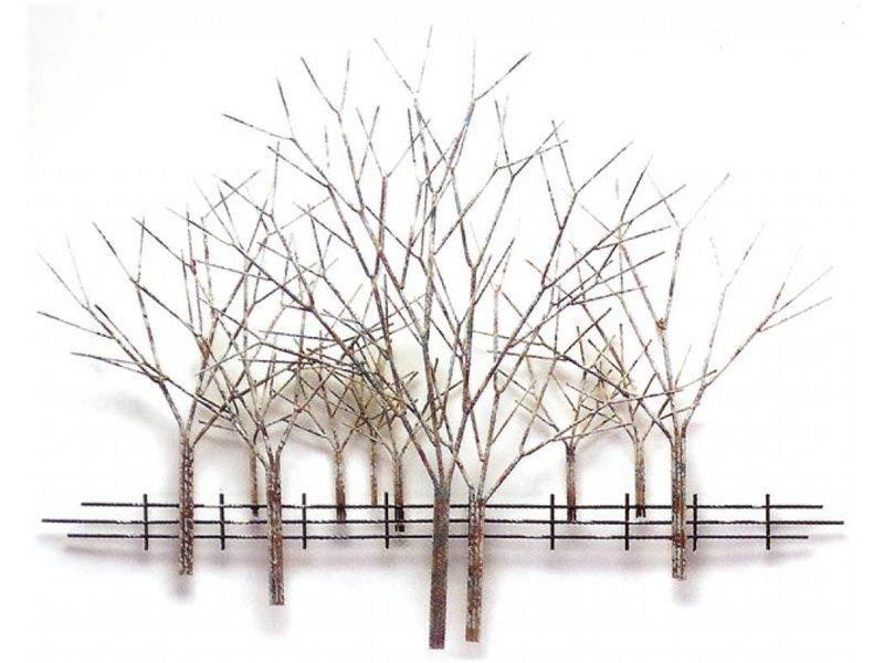 C. Jeré Boomgaard in winter  - metalen wandsculptuur