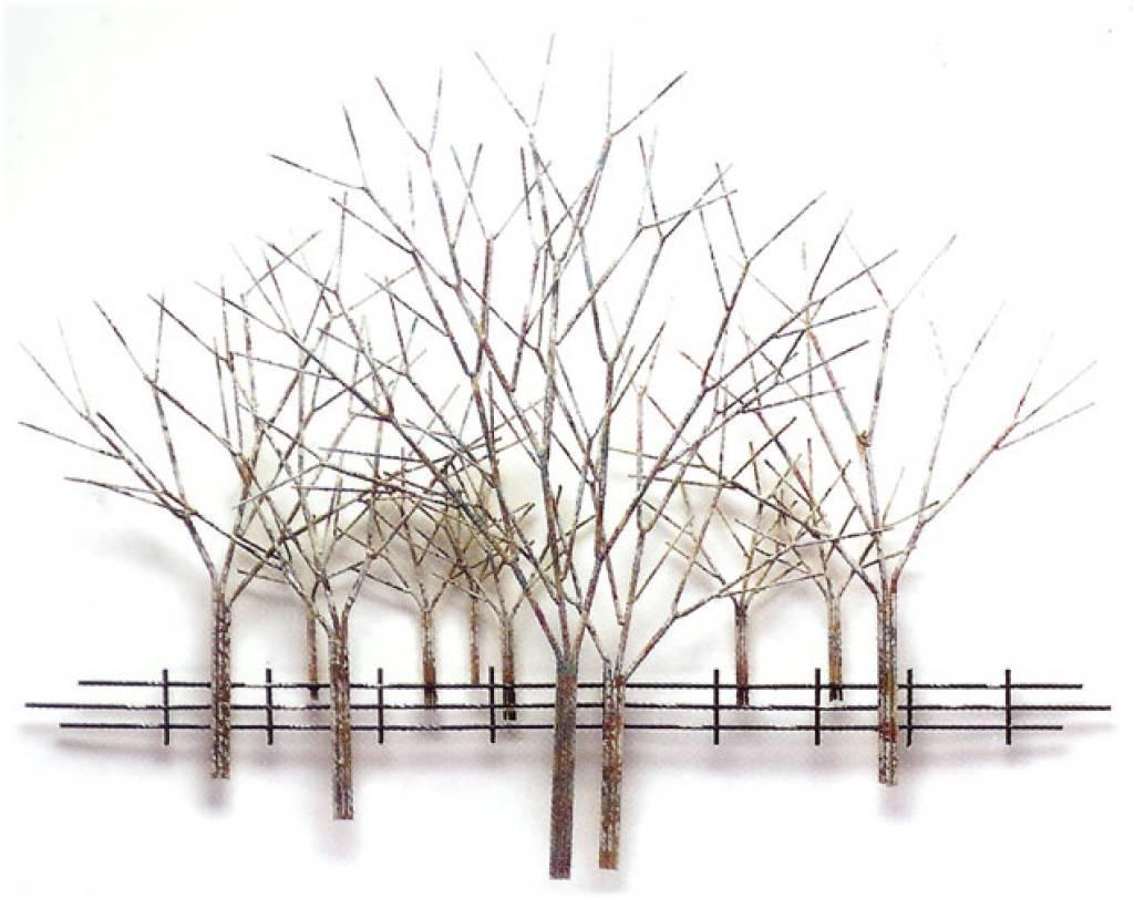 C Jer Winter Orchard metal wall art Artisan House