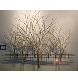 C. Jeré Winter Orchard - metal wall art - Artisan House