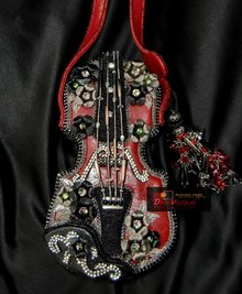 Mary Frances Floral violin - Mary Frances handbag / minibag