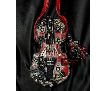 Mary Frances Floral violin - designer minibag