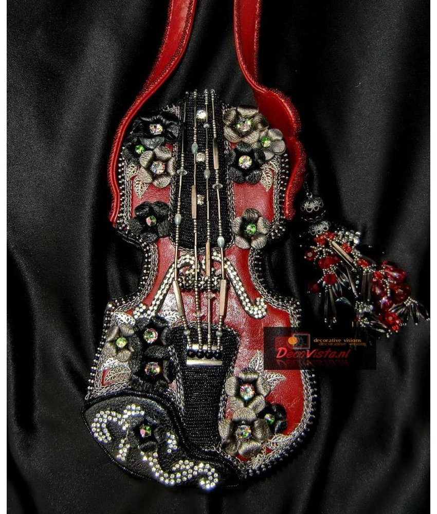 Mary Frances Floral violin - Mary Frances handbag / minibag