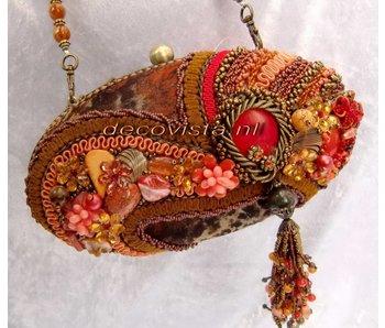 Mary Frances Sun Kiss Coral - designer minibag