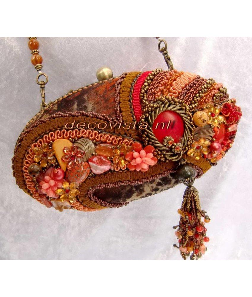 Mary Frances Sun Kiss Coral - Mary Frances handbag / minibag