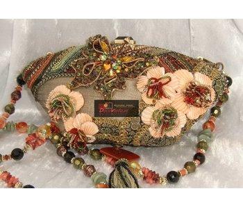 Mary Frances Cherry Blossom- designer minibag