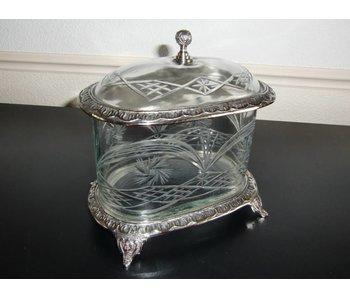 Baroque House of Classics Glazen pot met deksel