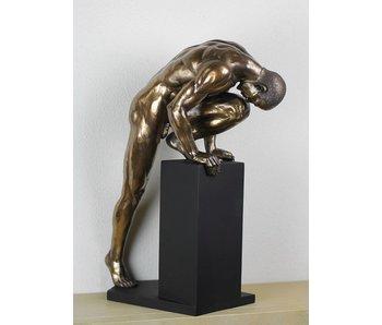 BodyTalk Stretching nude bodybuilder sculpture - L