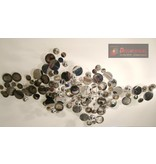 C. Jeré Wandsculptuur C. Jeré, Raindrops Silver - wanddecoratie