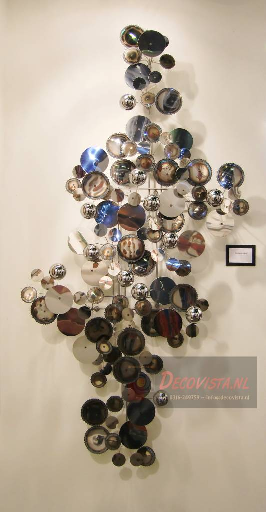 C. Jeré Wall art sculpture Raindrops - silver - DECOVISTA - colorful ...
