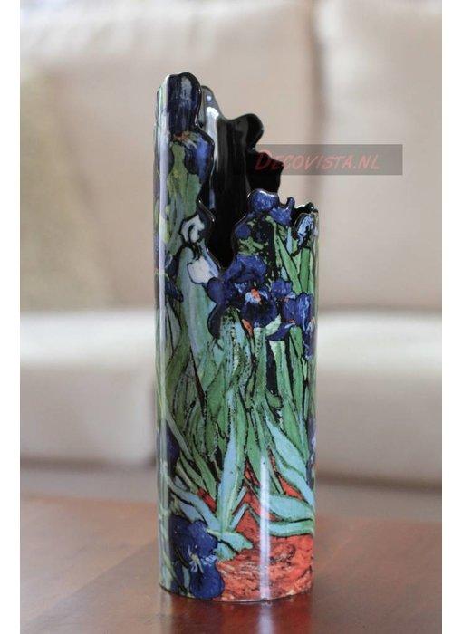 Silhouette d'Art - John Beswick Museum vase - Vincent Van Gogh -  Irises