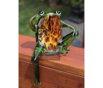Vetro Gallery Glasskulptur Frosch - Randsitzer