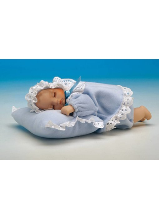 Musicboxworld Musicbox - Baby (boy) on a pillow