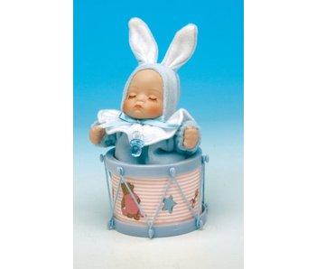 Musicboxworld Speeldoos - Baby (jongen) in trommel OP=OP