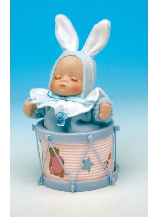 Musicboxworld Musicbox - Baby (boy) in a drum