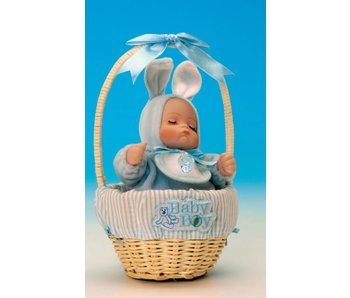 Musicboxworld Musicbox - Baby (boy) in a basket