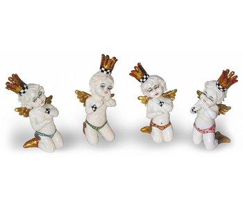 Toms Drag Set of 4 white angels