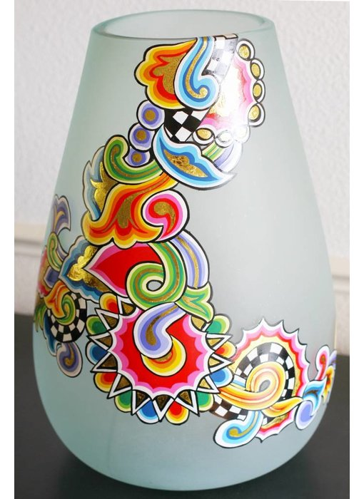 Toms Drag Glazen vaas - rond