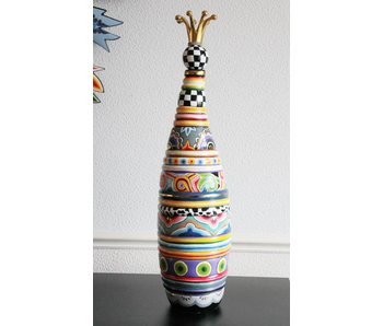 Toms Drag Bottle - vase with crown - L - LAST CHANGE - OUT OF PRODUCTION