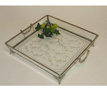 Baroque House of Classics Square tray of glass