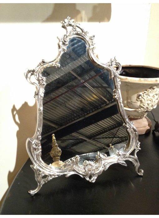 Baroque House of Classics Staande barok spiegel met zilveren lijst