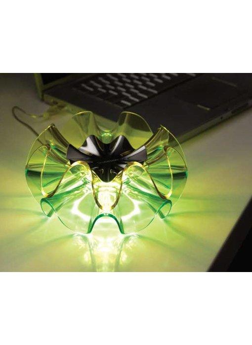 QisDesign Flamenca dimbare LED tafellamp - GROEN