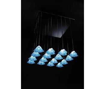 QisDesign Coral - meervoudige hanglamp Frosted White - LED