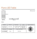QisDesign Piano - LED table light