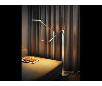 QisDesign BE Light- LED floor lamp / reading lamp, silver