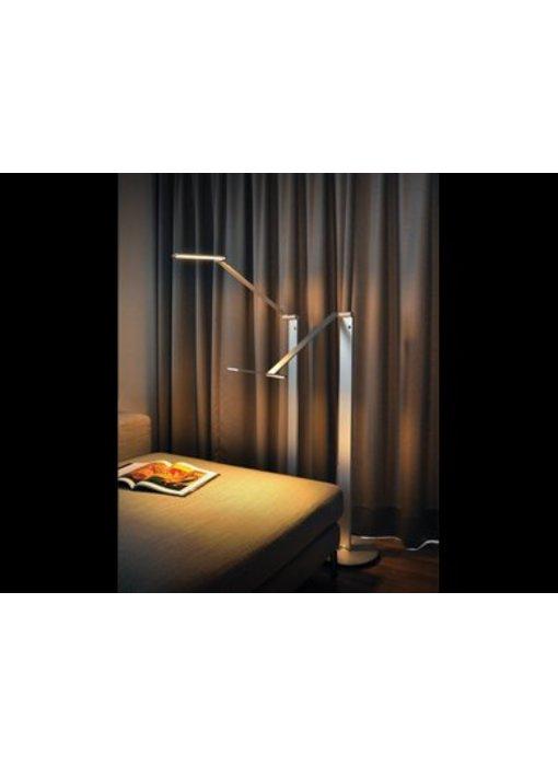 QisDesign BE Light- LED floor lamp / reading lamp, silver