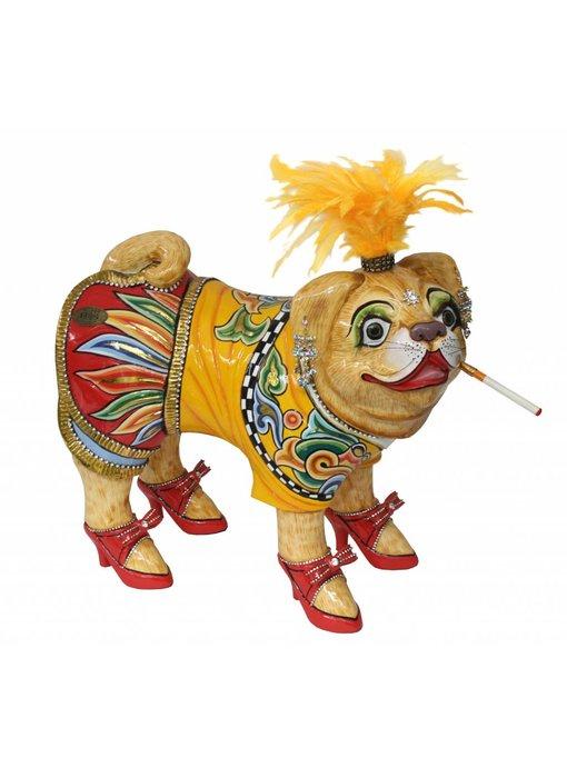 Toms Drag Pug dog, dog figurine Emilie - L