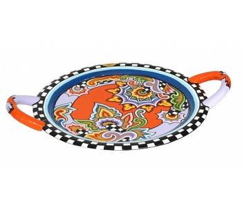 Toms Drag Rundes Tablett im Drag Stil - L - oranje