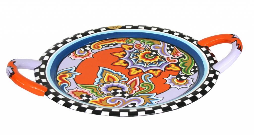 Handgrepen Keuken Industrieel : Toms Drag Rond serveerblad – L – oranje – DecoVista – kunst en