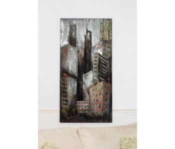 Wall decoration Skyscrapers, 3D metal
