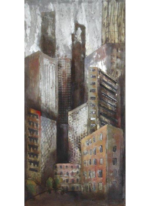 Wanddekoration Skyscrapers metal