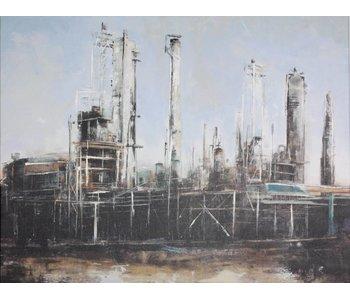 Schilderij mixed art De Fabriek