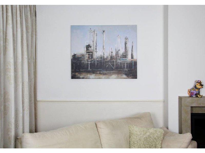 Schilderij mixed art de fabriek decovista kunst en interieur - Deco schilderij slaapkamer jongen ...