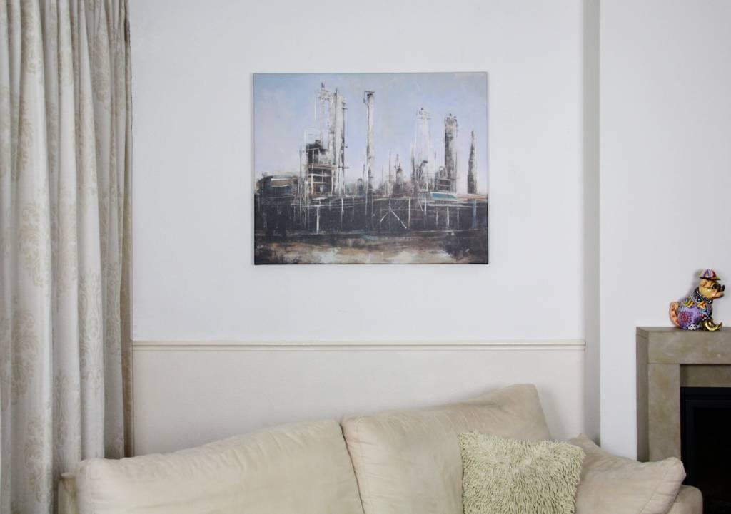 Schilderij mixed art de fabriek decovista kunst en interieur - Deco schilderij slaapkamer kind ...