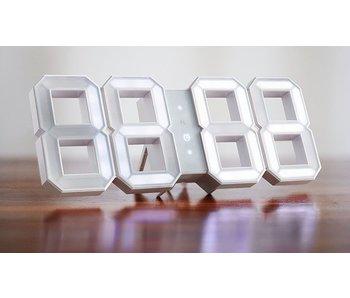 Kibardin Kibardin White & White Alarm klok LED - WIT