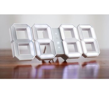 Kibardin White & White digital LED clock - White Edition (available late Oct 2016)