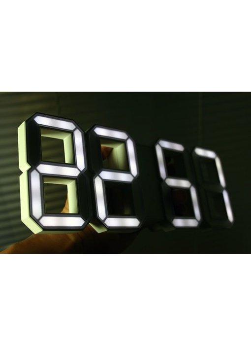Kibardin White & White black digital LED clock (deliverable Oct 2016