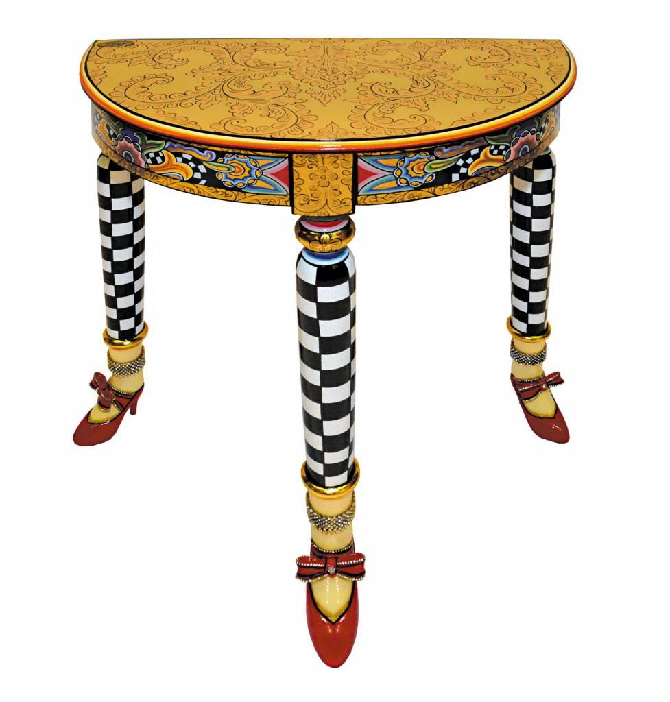 beistell tisch halbrund decovista farbenfrohe kunstobjekte und wanddekoration. Black Bedroom Furniture Sets. Home Design Ideas