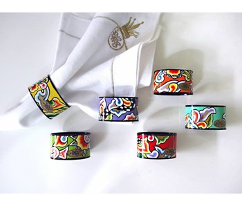 Toms Drag Napkin ring set-6 pieces