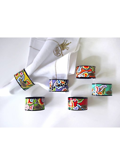 Toms Drag Napkin ring set-6 pieces