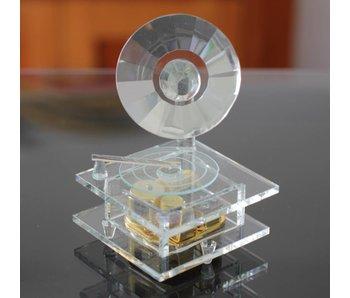 Kristall Glas-Spieluhr - Grammophon