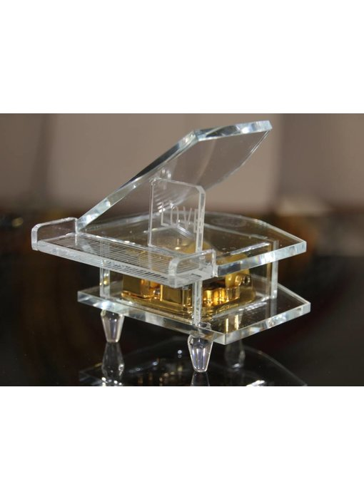 Kristall Glas-Spieluhr - Klavier