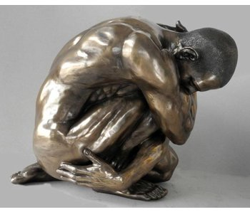 BodyTalk Skulptur einer Man in Wrap position - XL