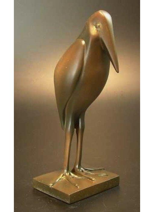 Pompon Mariboe - Marabout, vogel sculptuur of  vogelbeeld